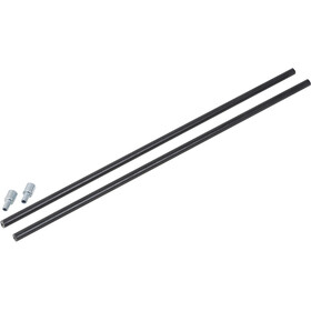 CAMPZ Glass Fibre Pole with pin 11mm x 0,55m schwarz